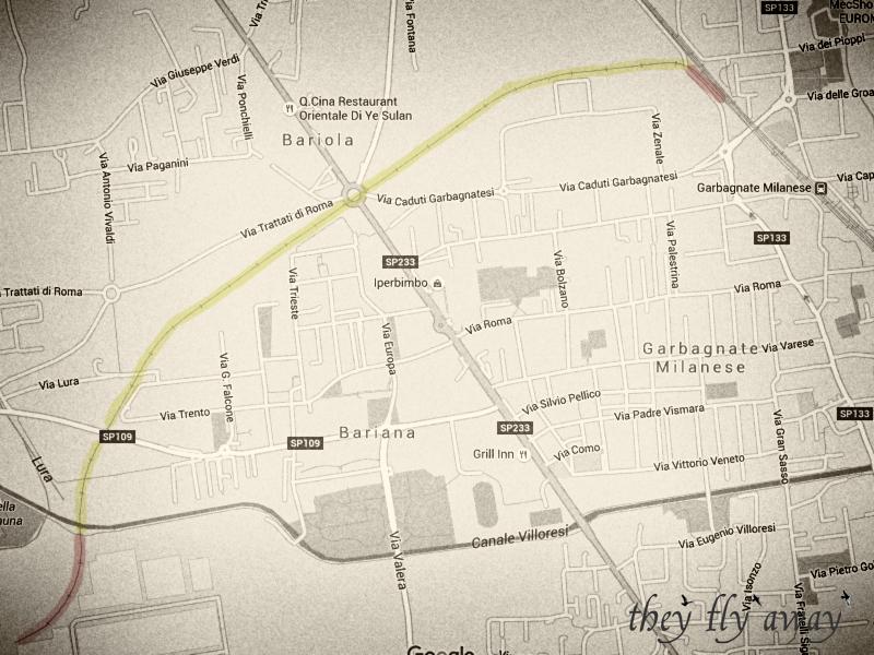 Mappa del tracciato della ferrovia