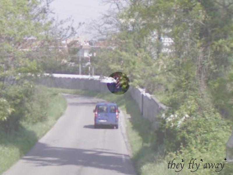 Pannello distanziometrico dei 150 metri (Google Street View)